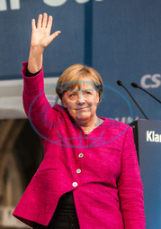Merkel Campaigns in Munich With Horst Seehofer and Joachim Hermann
