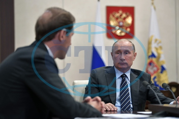 President Putin meets with Russian ministers Manturov and Oreshkin