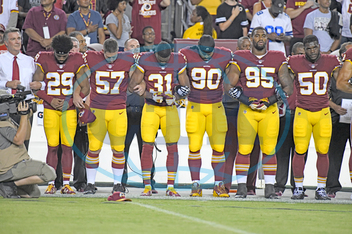 NFL Players Protest Trump's Comments - USA