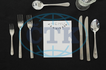 Table, Setting, Place, Dinning, Dinner, Meal, Food, Arrangement, Tableware, Dinnerware, Theme, Celebration, D~A(c)cor, Decoration, Festivity, Occasion, Gathering, Reserved, Service, Black, Cutlery, Spoon, Knife, Fork, Menu, M