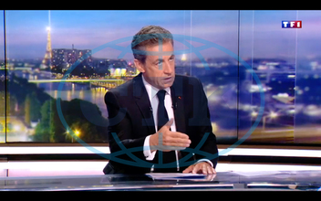 Nicolas Sarkozy Interviewed News Bulletin On Tf1 - Boulogne Billancourt