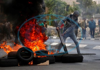 Protest in West Bank