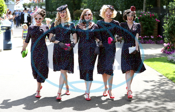 The Tootsie Rollers,  klobouk,  Royal Ascot - Day Four - Ascot Racecourse