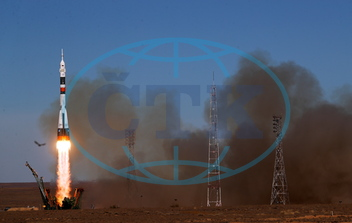 Soyuz MS-10 spacecraft carried by Soyuz-FG rocket booster launches from Baikonur Cosmodrome,  Bajkonur,  vesmírná loď,  stanice,  Sojuz,  start,  nouzové přistání