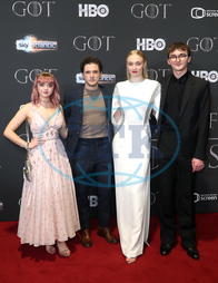 Maisie Williams,  Kit Harington,  Sophie Turner,  Isaac Hempstead Wright