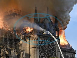 Fire hits Notre-Dame Cathedral in Paris,  France