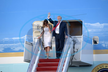 Donald Trump Arrives In West Palm Beach For Weekend At Mar-A-Lago Estate after Trump Declares Victory after the Release of MuellerŐs Report
