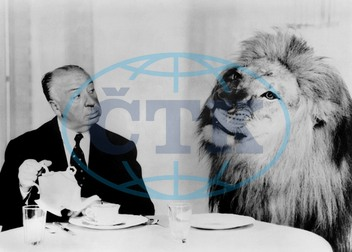 Alfred Hitchcock & Lion