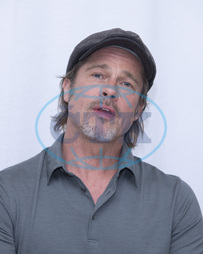 Brad Pitt promotes the film Once Upon A Time in Hollywood,  at the Four Season,  Beverly Hills.,  herec