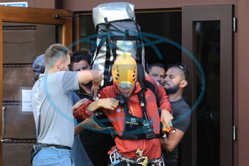 Rescue operation for trapped cavers in the Wielka Sniezna cave