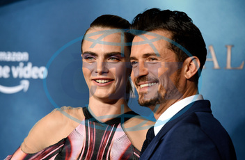 Cara Delevingne,  herečka,  Orlando Bloom,  herec