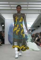 Richard Malone London Fashion Week Spring/Summer 2020,  modelka,  přehlídka