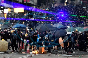 Hong Kong protest on China's National Day
