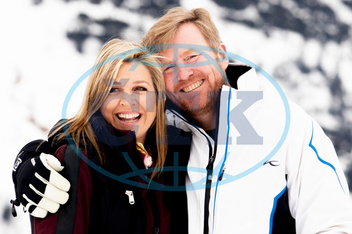 Maxima,  královna,  Willem-Alexander,  král,  úsměv,  Dutch Royal Photosession in Lech