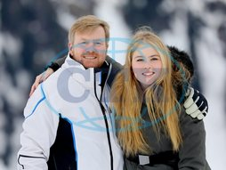 Willem-Alexander,  král,  Amalia,  princezna,  dcera,  Dutch Royal Photosession in Lech