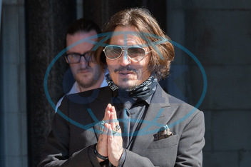 Johnny Depp,  herec,  and Amber Heard at The Royal Courts of Justice