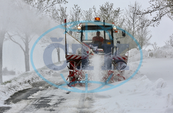 Snow blower, heavy snowfall
