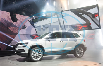 World Premiere brand new SUV Skoda Karoq, car