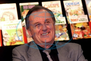 Albert Uderzo at KaDeWe department store in Berlin,  2001