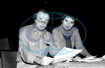 Kohout,  Pavel - Writer,  Austria - and his wife Jelena during ra ehearsal in Hamburg - 01.11.1981