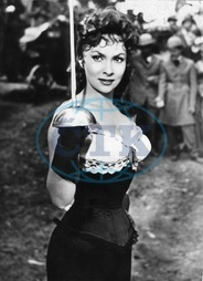 Gina Lollobrigida,  herečka,  role - Actress,  Photojournalist,  Italy - *04.07.1927- Scene from the movie 'La donna piu bella del mondo'' Directed by: Robert Z. Leonard Italy / France 1955 Vintage proper