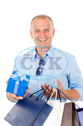 adult, attractive, bags, business, businessman, businessperson, carrying, casual, caucasian, clothes, clothing, elegant, fashion, friendly, gift, handsome, happy, isolated, lifestyle, look, looking, male, man, mature, modern