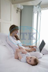 New Mother Working from Home