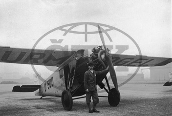 Father in Law with the Junkers Air Plane Sturmvogel in Berlin