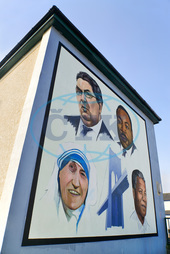 Ireland,  North,  Derry,  The Peoples Gallery series of murals in the Bogside Mural known as