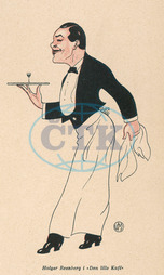 WAITER WITH GLASS 1912