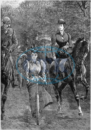 CYCLING WITH HORSES 1896