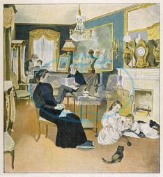 FRENCH FAMILY IN SALON