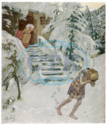 GIRL SENT OUT IN SNOW