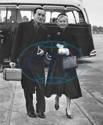 Film director DAVID LEAN and his wife actress ANN TODD