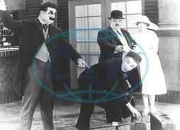 OLIVER HARDY and LARRY SEMON in an unknown comedy short