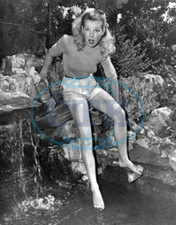 CECILE AUBRY French actress tests the water CECILE AUBRY