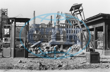Post-War period - Destroyed Dresden 1945