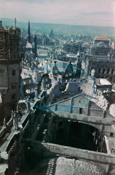 End of the war - Destroyed Dresden after 1945