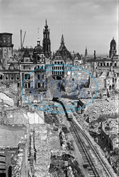 End of the war - Destroyed Dresden 1945 - 1950