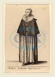 Wenceslaus Hollar, Bohemian, 1607-1677, Mulier Austriae Superioris, 1643, etching, Wenceslaus, Hollar