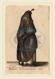 Wenceslaus Hollar, Bohemian, 1607-1677, Mulier Coloniensis, etching, Wenceslaus, Hollar