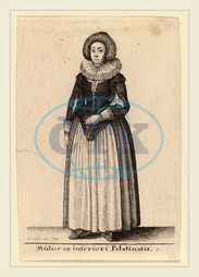 Wenceslaus Hollar, Bohemian, 1607-1677, Mulier ex inferiori Palainatu, 1643, etching, Wenceslaus, Hollar