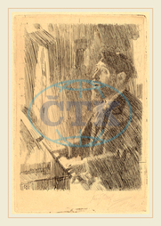 Anders Zorn, J.B. Faure, Swedish, 1860-1920, 1891, etching, Anders, Zorn