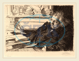 Anders Zorn, Ernest Renan, Swedish, 1860-1920, 1892, etching, Anders, Zorn