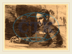 Anders Zorn, Lawyer Wade, Swedish, 1860-1920, 1890, etching, Anders, Zorn