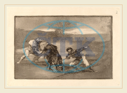 Francisco de Goya, Otro modo de cazar a pie, Another Way of Hunting on Foot, Spanish, 1746, 1828, before, 1816, etching, burnished, aquatint, drypoint, burin, first, edition, impression, Francisco, de, Goya