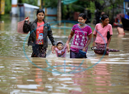 Heavy Rains Cause Flooding In Myanmar