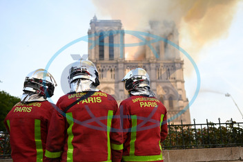 NEWS : Notre Dame de Paris in Fire - Paris - 04/15/2019