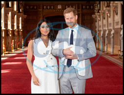 Duke and Duchess of Sussex with their baby son