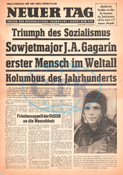 1961 Neuer Tag (Germany) Yuri Gagarin is first man in space
